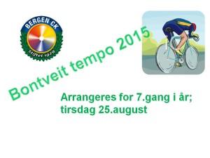 Bontveit tempo Invitasjons-plakat 2015