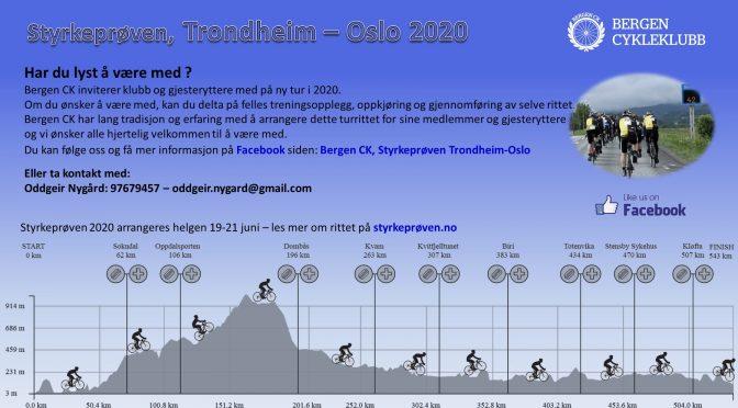 Trondheim-Oslo 2020, har du lyst å være med?